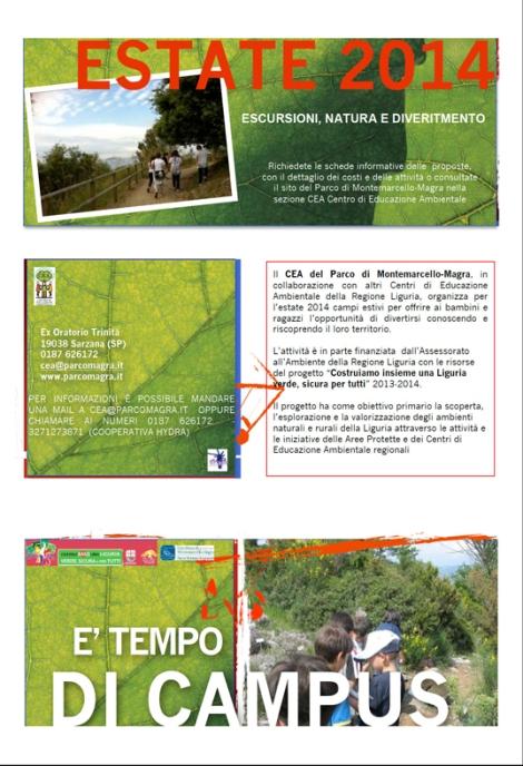 fronte brochure campi estivi 2014