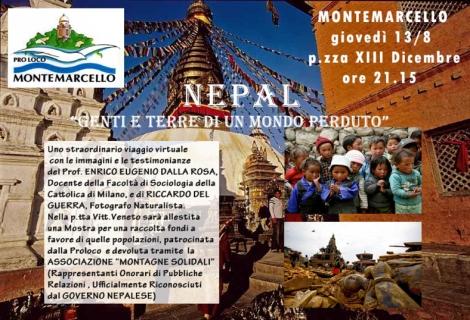 Locandina serata X il NEPAL